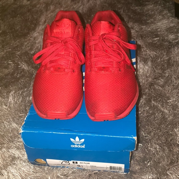 6cc8c31b423a9 adidas Other - All red ZX Flux Adidas